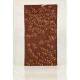 Bombón de chocolate con leche relleno sin azúcar