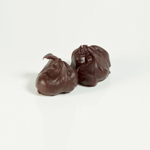 Dark chocolate rocks with hazelnuts